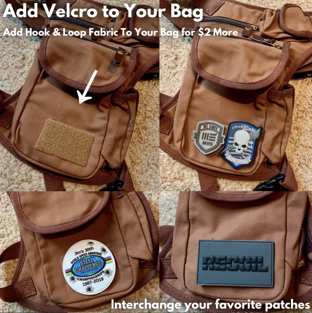 The Velcro patch option allows you to interchange your favorite patches on your Backwoods Bag