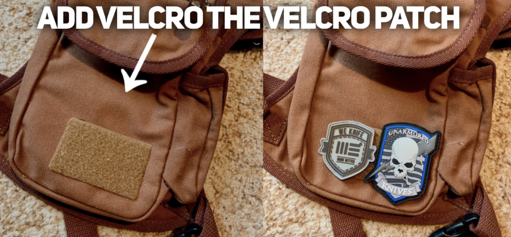 THE VELCRO PATCH TO INTERCHANGE YOUR FAVORITE PATCHES